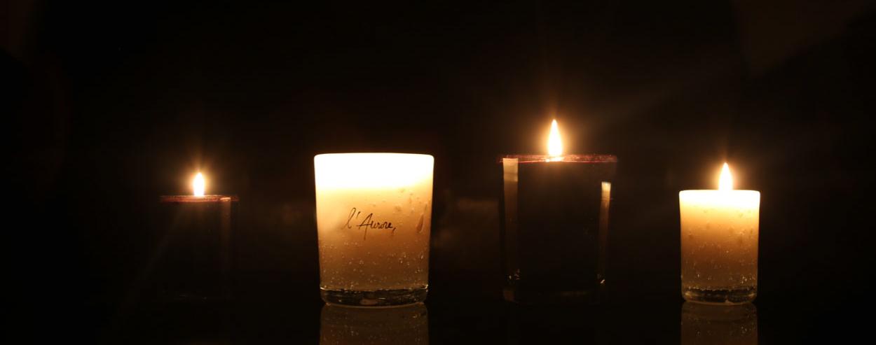 l'aurore bougie la nuit