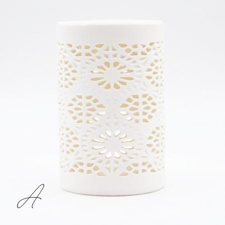 brûle-parfum | céramique-blanc-cuve-noire