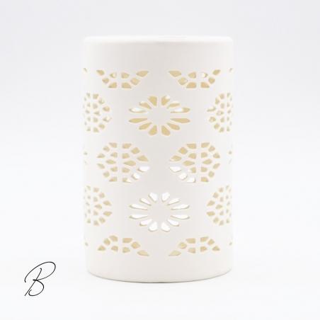brûle-parfum | céramique-blanc-cuve-noire-style-japonais