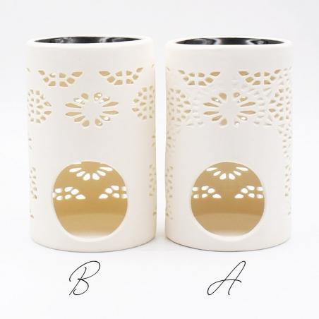 brûle-parfum | ambiance-japonaise-céramique-blanc-cuve-noire