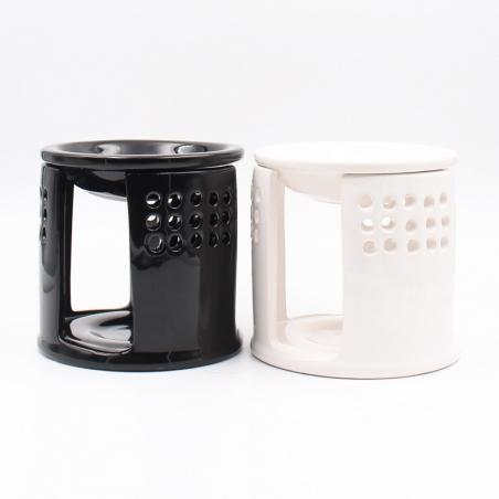 oil-burner-fragrance | black-white-ceramic