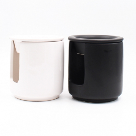candle-wax-melter | white-black-ceramic-home-decoration