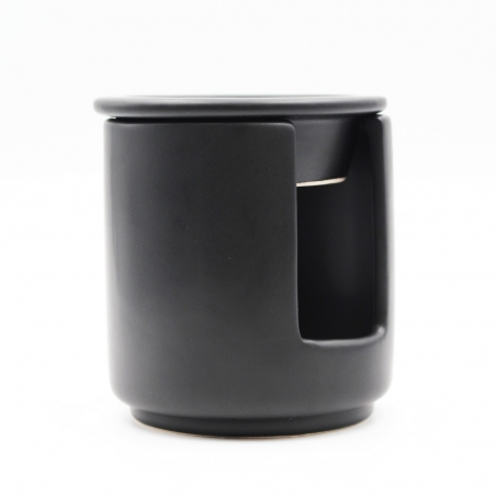 candle-wax-melter | black-ceramic-matte-decoration