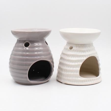 wax-heater | white-brown-ceramic