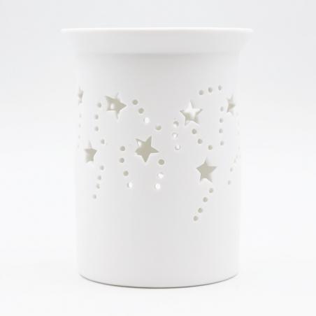 candle-burners | starry-white-ceramic-burner
