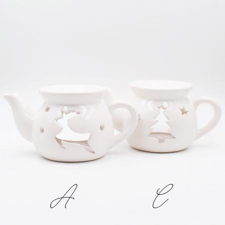 brule-parfum-noel   décoration-intérieur-maison-noel-sapin-théière-blanc