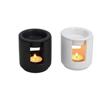 brûleur-parfum   céramique-noir-blanc-décoration-minimaliste