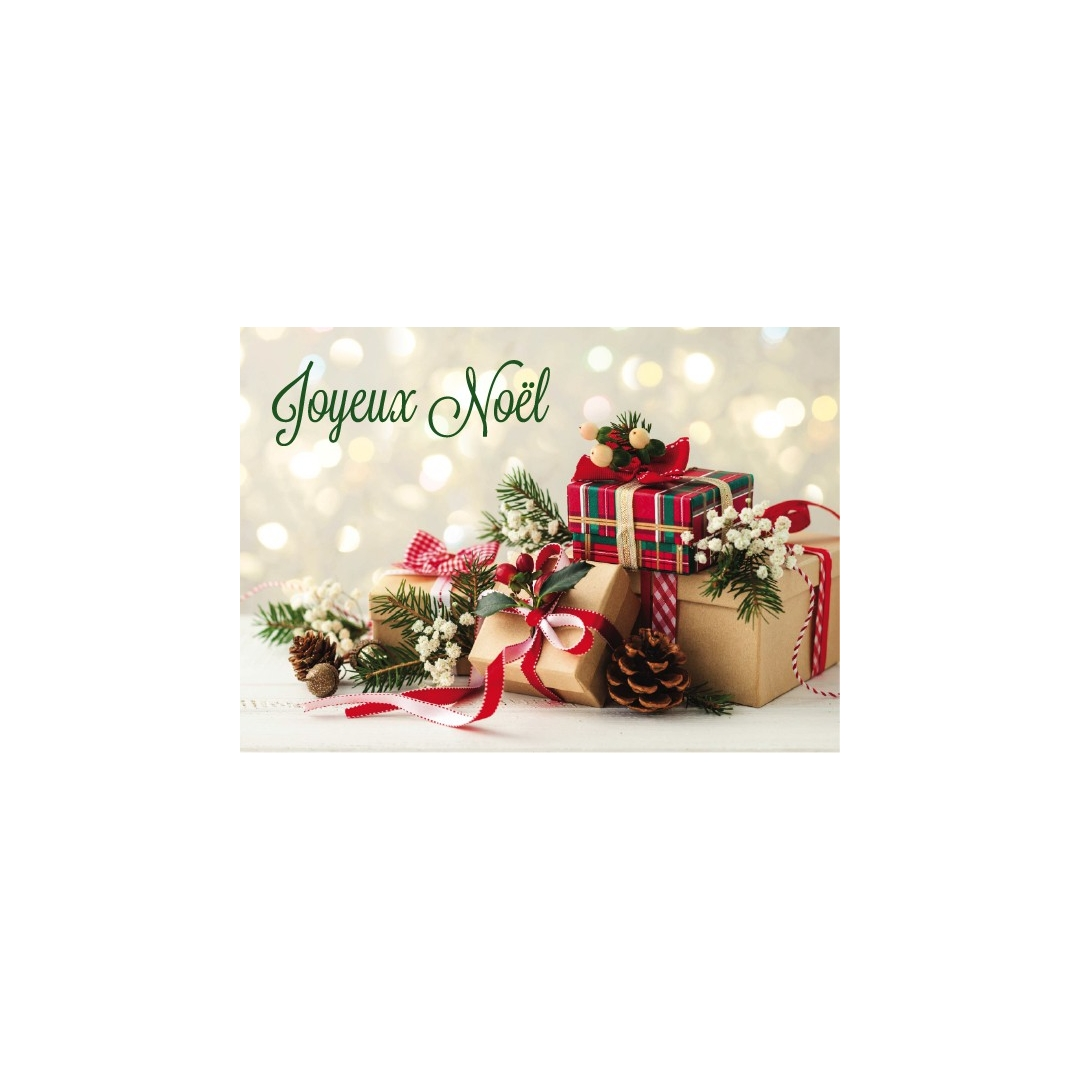 À celle que j/'aime-Joyeux Noël-Paillettes Carte de Noël
