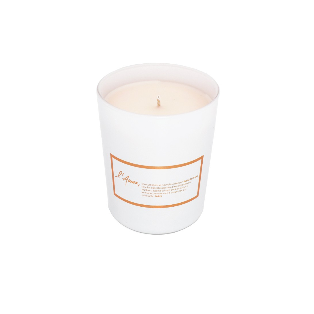 Scented candle FRAICHEUR D'ASIE (cotton flower and lotus)