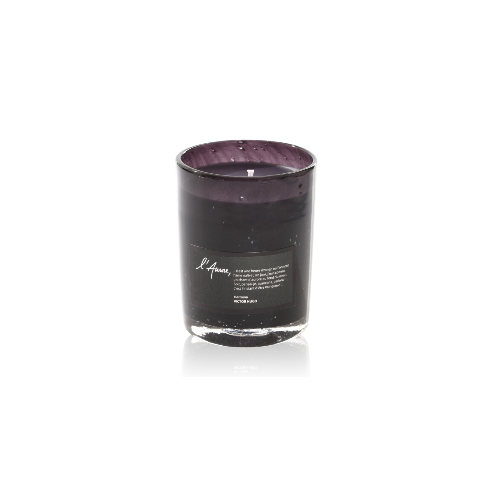 Scented candle HERMINA (violet, citrus, green tea)