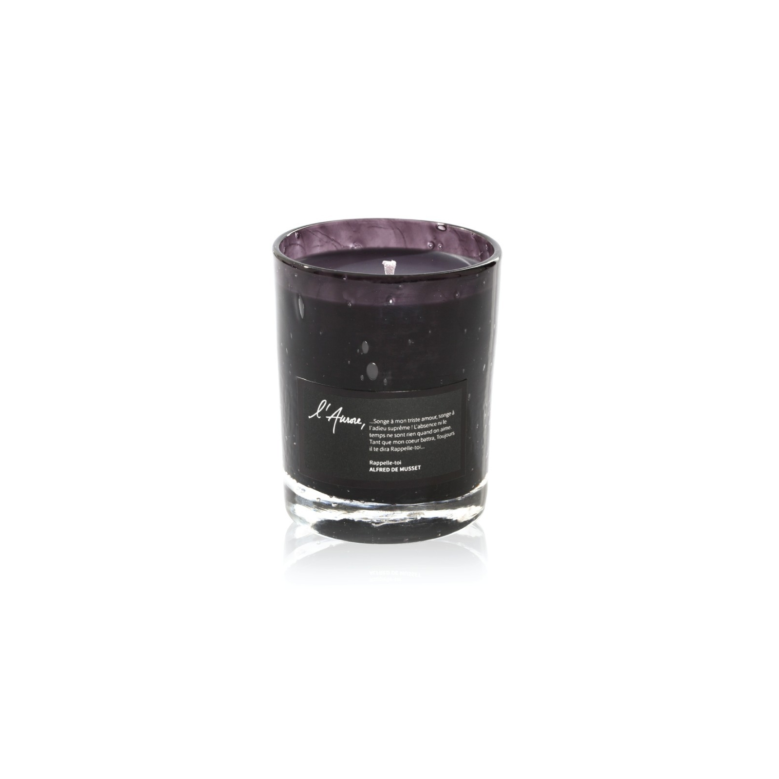 Scented candle RAPPELLE TOI (vanilla, white rose, benzoin)